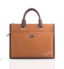 Alibaba wholesale brown top quality men leather shoulder bag branded handbag