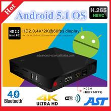 High Quality H.265 KODI Pre-install I68 RK3368 Octa Core Google Android 5.1 TV BOX