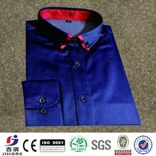 azul marinho de poliéster mancha formal camisa vestido de homens