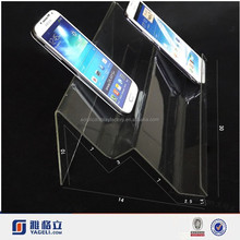 Acrylic Clear Color N Tyle Mobile Phone Holder Display Rack,acrylic 3 cup mobile holder
