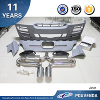 Body bumper kits with Exhaust pipe(HM type) For BMW X6 E71 08+ Car Accessories From Pouvenda