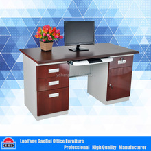 Luoyang Office Furniture High Quality Wooden Top Steel Computer Desk
