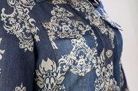 к 2015 году лето новой высокой талией денима жаккардовые платья тонкий старинный tutem печати длинное платье vestidos случайные карандаш платья sd2351