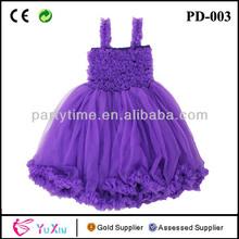 Púrpura petti princesa vestido, niña vestido de verano