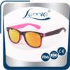 2015 Promotional Custom Logo PC Mold Mirror Orange Sunglasses