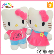 lovely pink high quality hello kitty plush doll