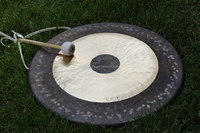 "32"" Chau Gong On Steel Gong Stand With Mallet For therapy"