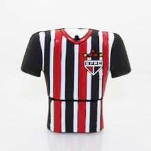 Promotional cheap football fans gift usb flash drive football shirt usb stick Sao Paulo Futebol Clube usb pens