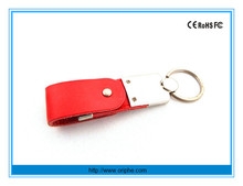 China factory wholesale gift light usb flash drive leather