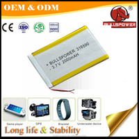 Great reliability cell phone Power Banks 2000mah 3.7V kinetic energy batteries