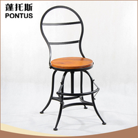 Unique design antique PONTUS indoor metal wrought iron chairs for balcony