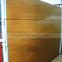 PU foam Insulated Garage Door Panels Wood Color/Best Quality Garage Door Panels in China/Wood Color Garage Door Panels