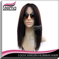 Hot sell wholesell 100% human hair grey hair wig