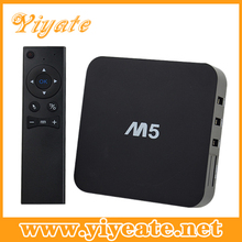 1080P quad core tv box M5 Aml S805/1GB ram/8GB ROM android media player xbmc wholesale android smart tv set top box