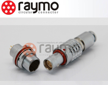 lemo 3 pin electrical connector with cable audio-video camara application