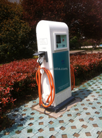 Solar EV charging station used EV fast charger with CHAdeMO and SAE combo connector
