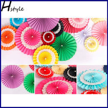 20cm Creative Hanging Tissue Paper Fans Garland Pompoms Wedding Backdrop Reception Decoration Frozen Party Supplies SD045