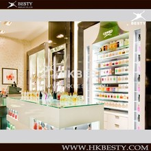 Supply Italy Style Cosmetic store Kiosk Display Showcase
