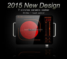 2015 New design sensitive slider touch control kitchen appliance electric infrared cooker