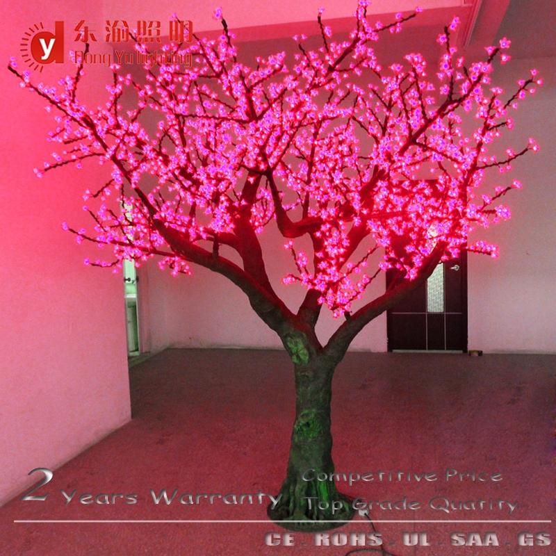 Festival Led Bonsai Tree Light Red Light Cherry Blossom Outdoor Artificial Ch