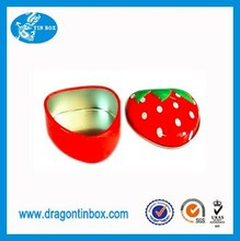 2015 HOT customized cute strawberry shaped chocolate candy packaging tin boxes