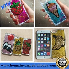 For iphone 6 liquid cover, glitter liquid cover for iphone 6