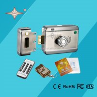 AX064 digital door lock system single cylinder extra push button remote control & reading card on outside