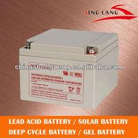 High rate ups/eps/back up battery 12V 24AH