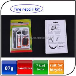portable 7 kind bike repair set accessories bicycle tire repair kit