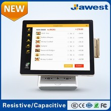 New Gold Cheap 15inch All in One Touch Screen Cash Register with Card Reader Factory Supply