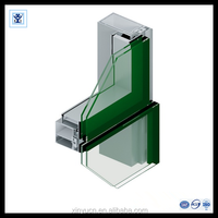 customized building curtain wall aluminum extrusion frame for sale