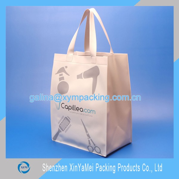 Transparent pvc shopping bag