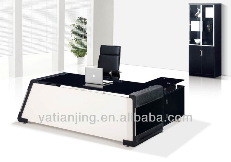 Modern glass top office table design buy modern glass for Center table design for office
