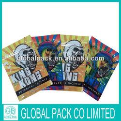 King Kong Top open with ziplock herbal incense bag