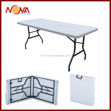 white outdoor plastic folding table