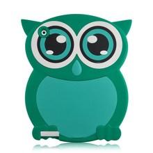 3D cute owl silicone case for ipad air, aminal case cover for ipad air