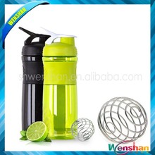 2015 New BPA free Protein Blender Shaker Bottle with ball