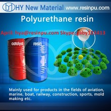 two component polyurethane resin for climbing holds