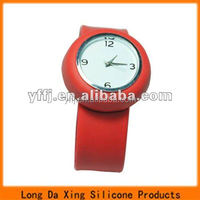 fashional silicone slap wristwatch for gifts