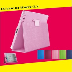 High quality case for ipad, for ipad case, for pu leather ipad case