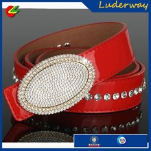 Fashion style many colour sparkling womens chastity crystal jean belt