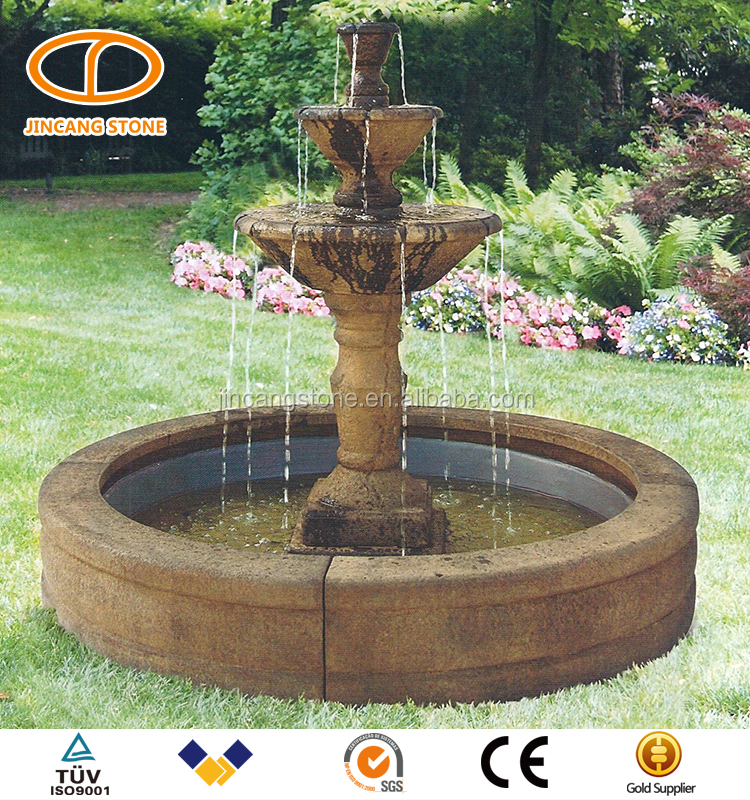 high quality large outdoor natural stone garden fountains