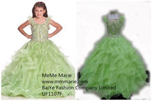 Little Queen Girl Dress Kids Party Dress Rhinestones Pageant Dress Evening Gowns UF1107F
