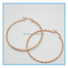 Chinese Supplier Stainless Steel Jewelry Unique Design Wholesale Big Gold Hoop Dangle Earrings in Alibaba