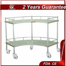 LG-ST002 medical trolley SS Fan-Shaped Operation Apparatus Table