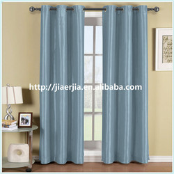 supply large quantity ready made solid customized blackout window curtain
