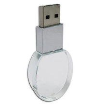 Best gift crystal glass Usb Flash Drive with engraving logo inside stock usb stick