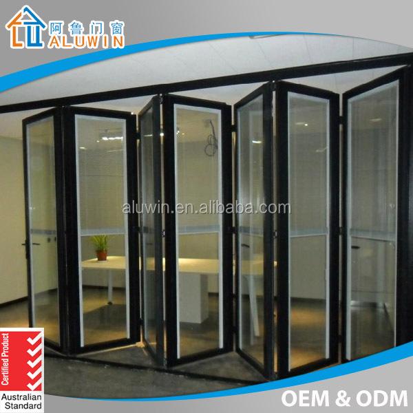 Guangzhou f brica de doble cristal bi aluminio puerta - Fabrica de puertas plegables ...