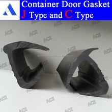 Rubber seal for shipping container