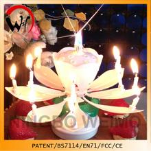 rotate flower opening singing princess cake decoration